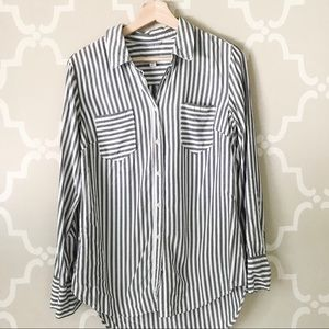 Merona striped button down